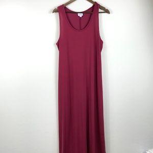 LuLaRoe Pink Dani Sleeveless Dress XL